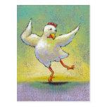 👍 Fun Dancing Chicken Postcard