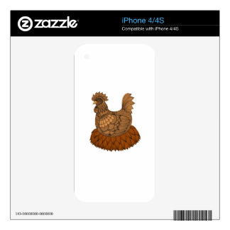 Chicken Decals For The iPhone 4S