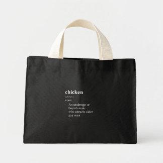 CHICKEN DEFINITION MINI TOTE BAG