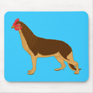 Chicken Dog Mouse Pad