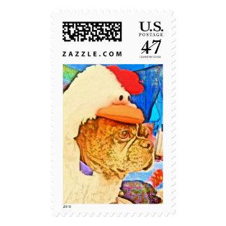 Chicken dog stamps
