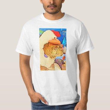 Foreverart Chicken dog t-shirt