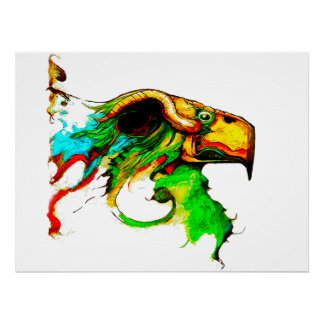 chicken-eagle print