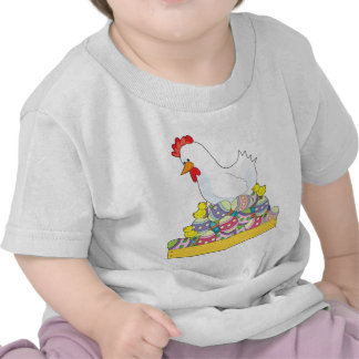 Chicken Easter Eggs Tee Shirts