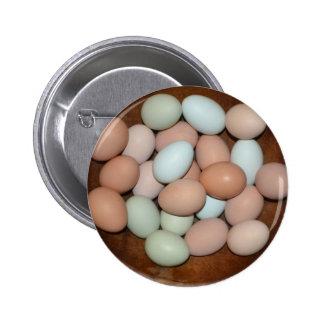 Chicken Egg Button 2 Inch Round Button