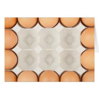 Chicken eggs frame card
