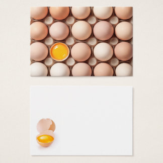 Chicken Eggs On Cardboard Tray For Background Business Card
