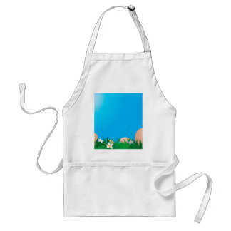 Chicken eggs on the grass adult apron