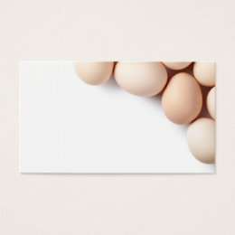 Chicken Eggs On White Background Business Card