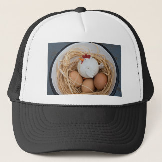 Chicken & eggs trucker hat
