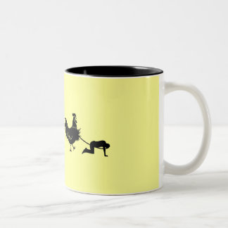 Chicken evolution mug