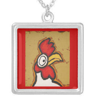 chicken face necklace