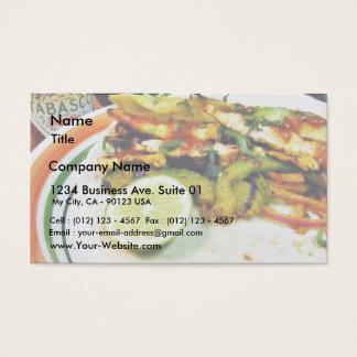 Chicken Fajitas Limes Business Card