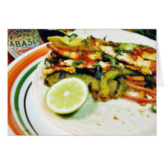 Chicken Fajitas Limes Greeting Card