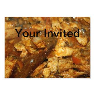 Chicken Fajitas Your Invited Card