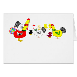 Chicken Family Card