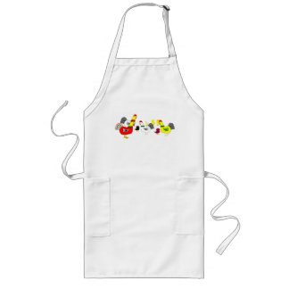 Chicken Family Long Apron