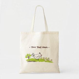 Chicken Family Organic Planet Reusable Canvas Bags