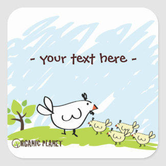 Chicken Family Organic Planet Stickers