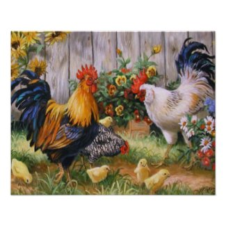 Chicken Family Poster