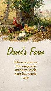 Farm business cards templates zazzle chicken farm business card colourmoves