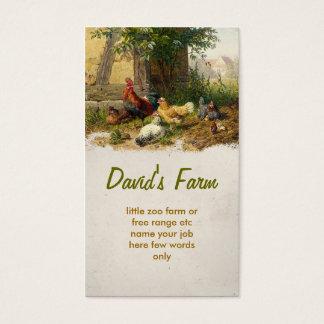 chicken farm business card