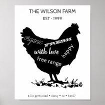 Chicken Farm ⎢Personalized Poster
