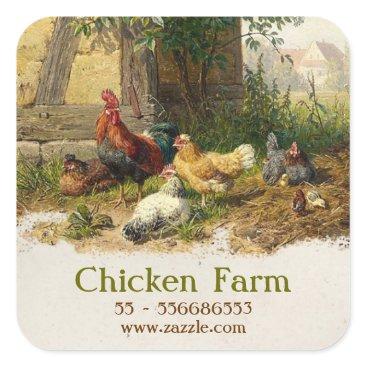 jinaiji chicken farm sticker
