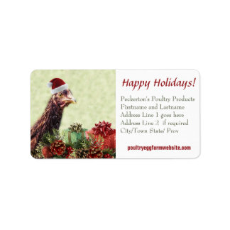 Chicken Farmer Xmas Hen Customized Business Label