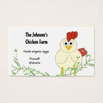 Chicken Farming Business Card