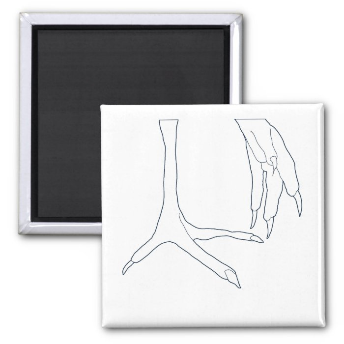 chicken feet 2 inch square magnet