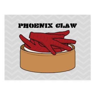 Chicken Feet Dim Sum Phoenix Claw Postcard