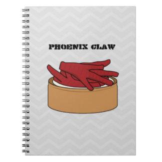 Chicken Feet Dim Sum Phoenix Claw Spiral Notebook