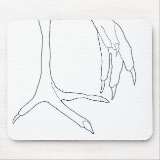 chicken feet mouse pad