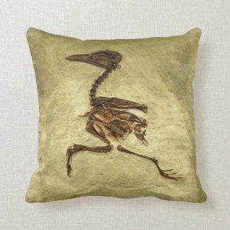 Chicken Fossil Running Club Petrified Avian Throw Pillow