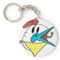 Chicken gang keychain