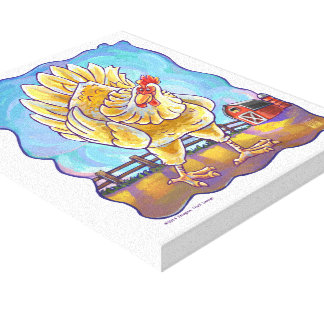 Chicken Gifts & Accessories Stretched Canvas Prints