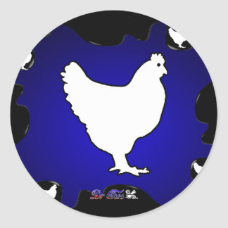 CHICKEN GIFTS CUSTOMIZABLE PRODUCTS ROUND STICKER