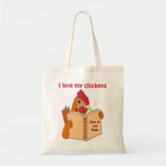 Chicken Gifts I Love My Chickens Resusabale Bag