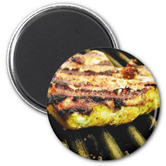 Chicken Grilling Refrigerator Magnets