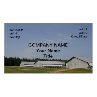 chicken growing house Double-Sided standard business cards (Pack of 100)