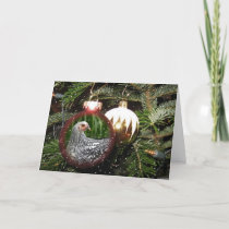Chicken Happy Holidays Greeting Card