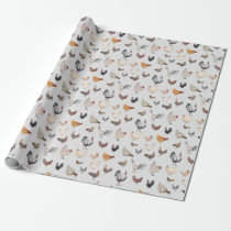 Chicken Happy Wrapping Paper