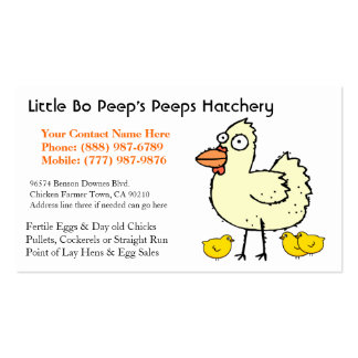 Chicken Hatchery Business or Poultry Producer Double-Sided Standard Business Cards (Pack Of 100)