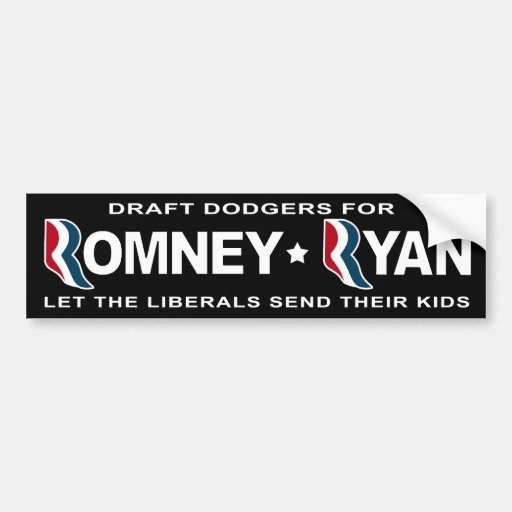 Chicken hawks for Romney and Ryan Bumper Stickers