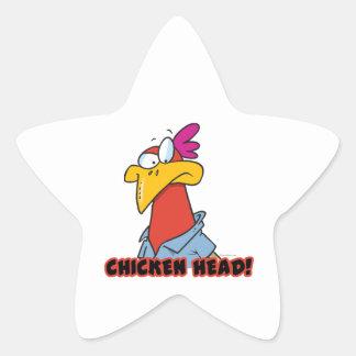 Chicken head star sticker
