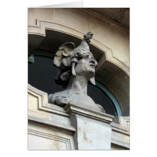 Chicken Head Statue Card