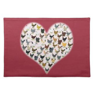 Chicken Heart Placemat