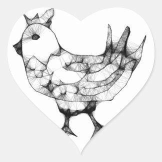 Chicken Heart Sticker