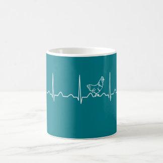 CHICKEN HEARTBEAT COFFEE MUG